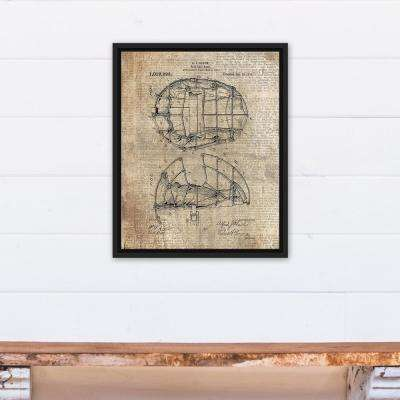 16 in. x 20 in. ''Baseball Mask Patent Print'' Printed Framed Canvas Wall Art