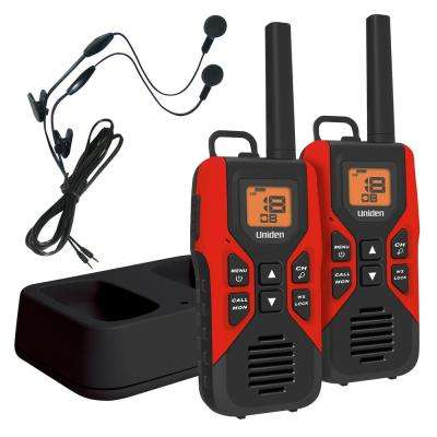 30-Mile GMRS/FRS w/121 Privacy Codes and Weather Alert Headsets