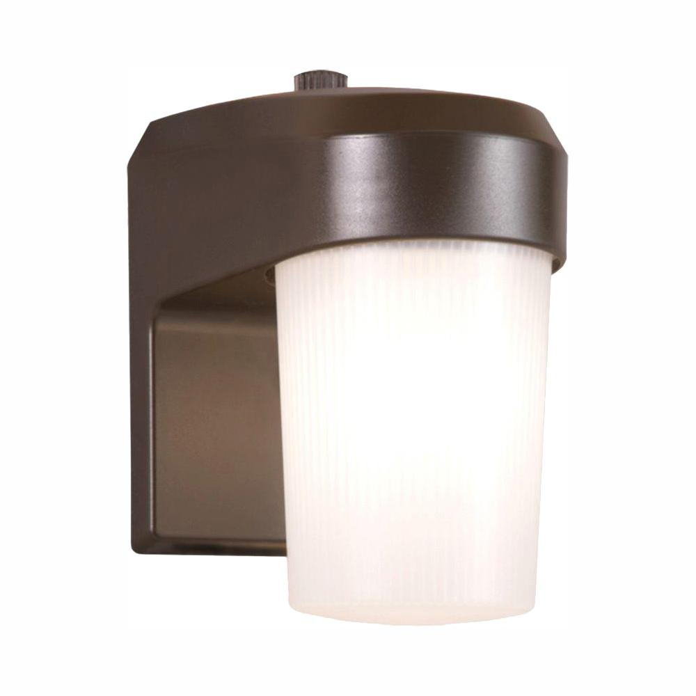 Halo 13-Watt Bronze Outdoor Fluorescent Entry Light Wall