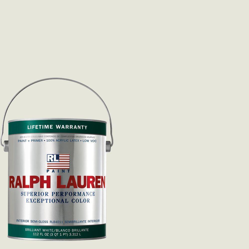 Ralph Lauren 1-gal. Studio White Semi-Gloss Interior Paint
