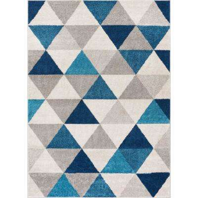 8 X 10 Blue Machine Washable Area Rugs Rugs The Home Depot