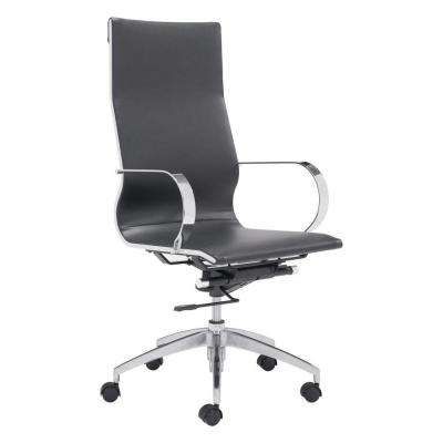Glider Black Leatherette High Back Office Chair