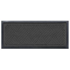 aqua shield charcoal 15 in x 36 in diamonds boot tray 20493541536 the home depot. Black Bedroom Furniture Sets. Home Design Ideas