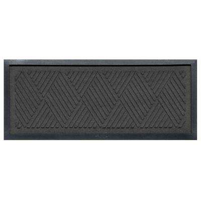Charcoal 15 in. x 36 in. Diamonds Boot Tray