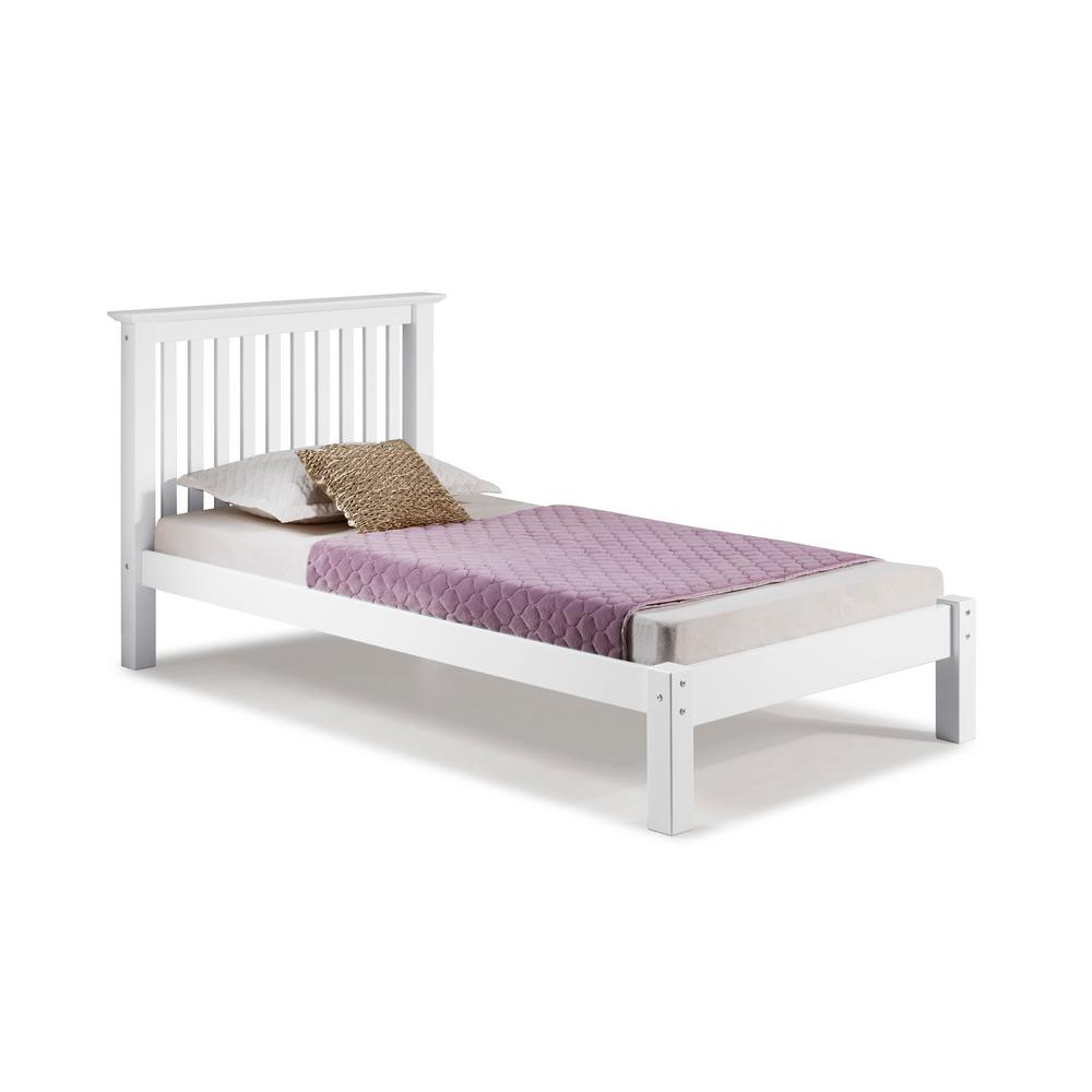 Barcelona White Twin Bed
