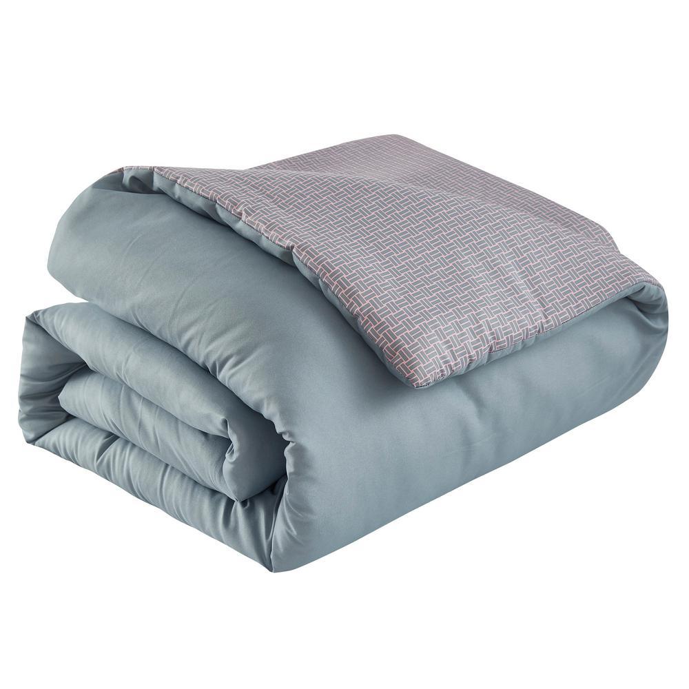 Isabel 7-Piece Grey Floral Queen Comforter Set