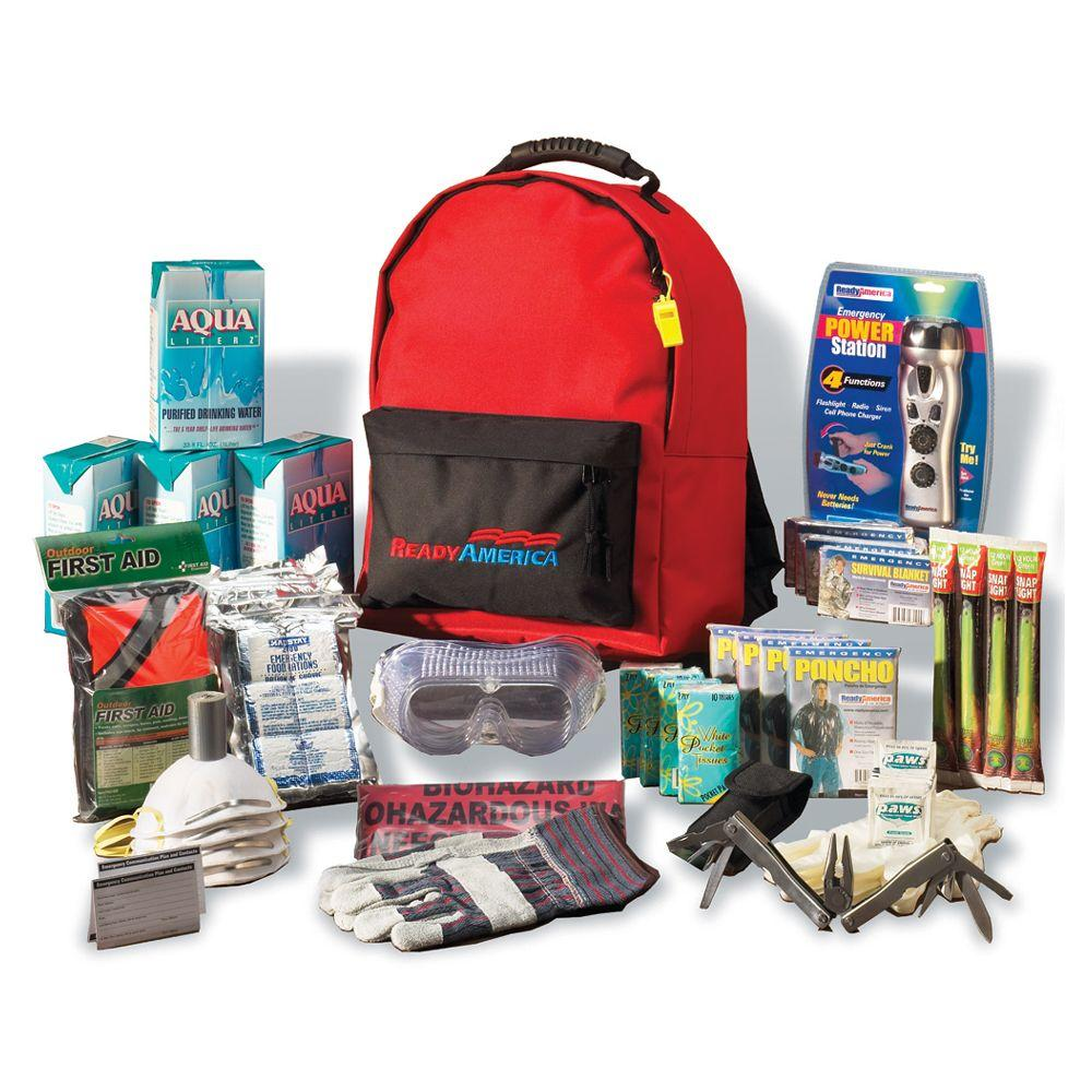 ready america 4 person 3 day deluxe emergency kit with backpack