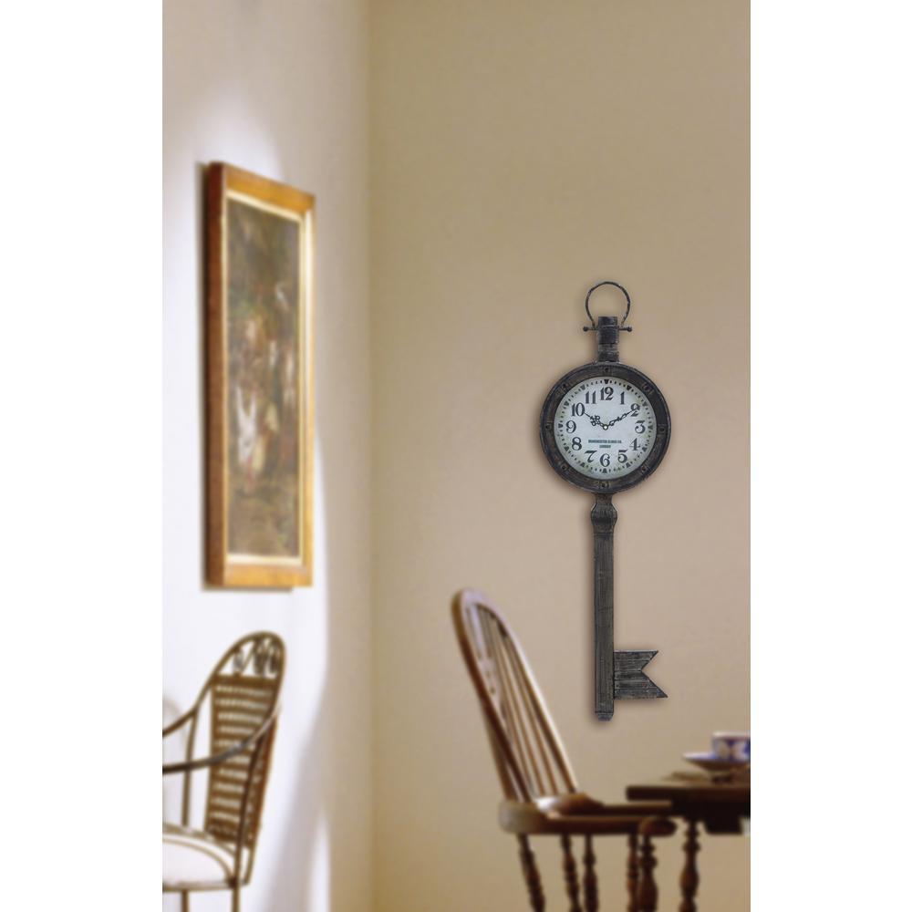 Vintage 37 in. Key Wall Clock