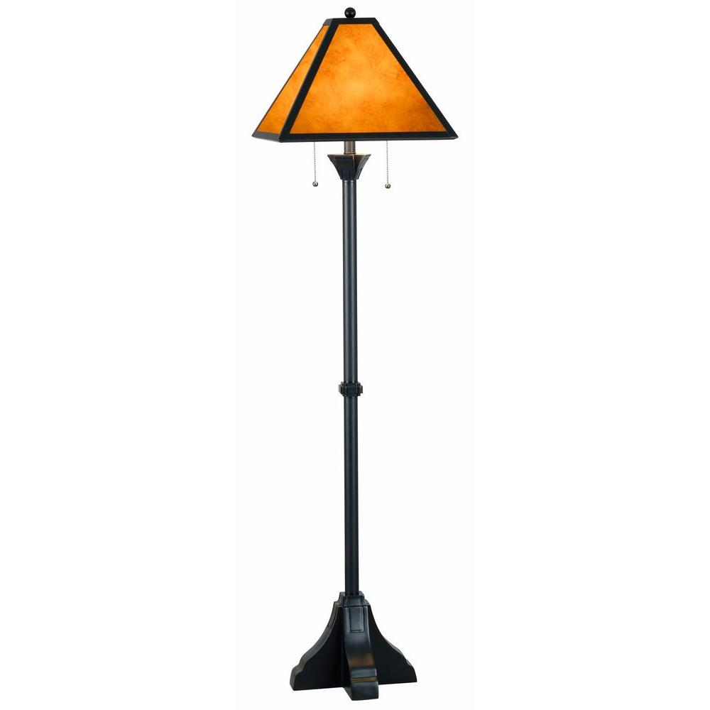 Miles 59 in. bronze floor lamp