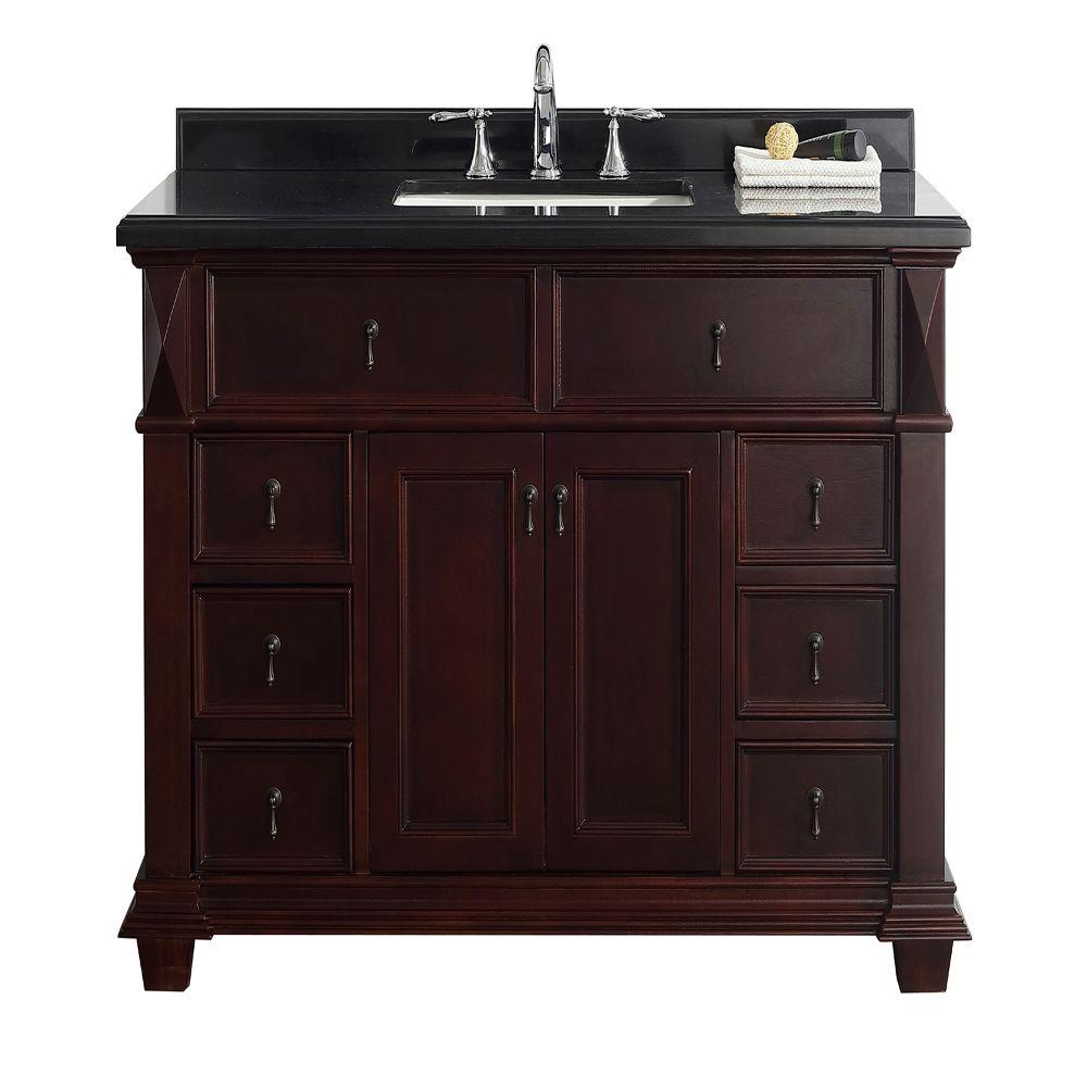Belle Foret Kathy 48 In W X 22 D Vanity Chocolate With