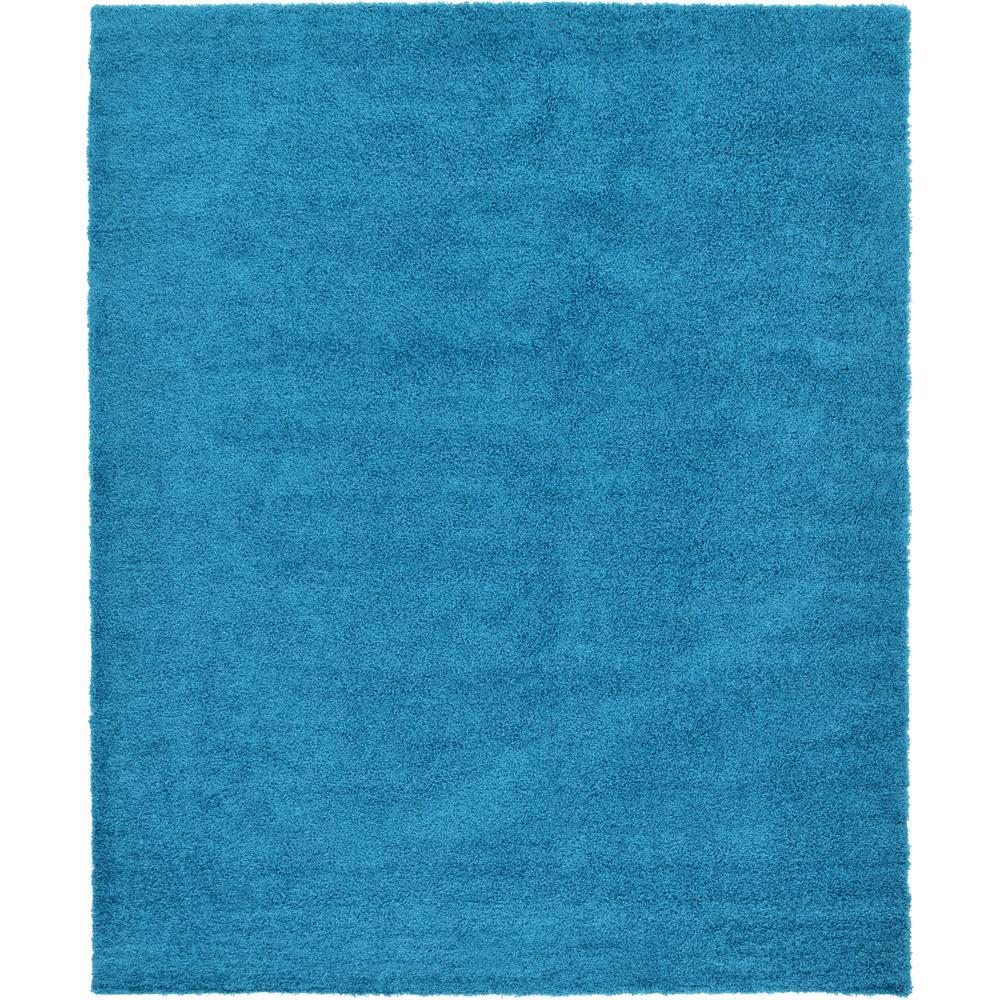 Unique Loom Solid Shag Turquoise 12' X 15' Rug-3127966
