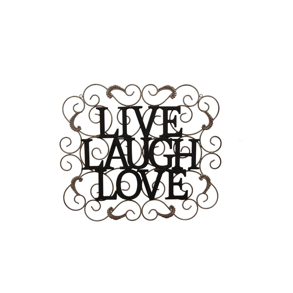 Three Hands Metal Live/Laugh/Love Wall Decor