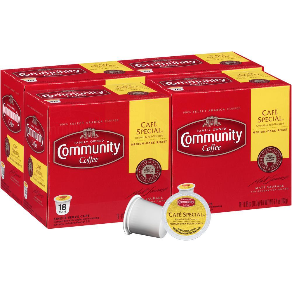 Community Coffee Cafe Special Medium-Dark Roast Single Serve Cups (72-Pack)