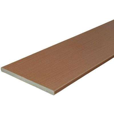 3/4 in. x 11-1/4 in. x 12 ft. Cabin Capped Fascia Composite Decking Board (10-Pack)