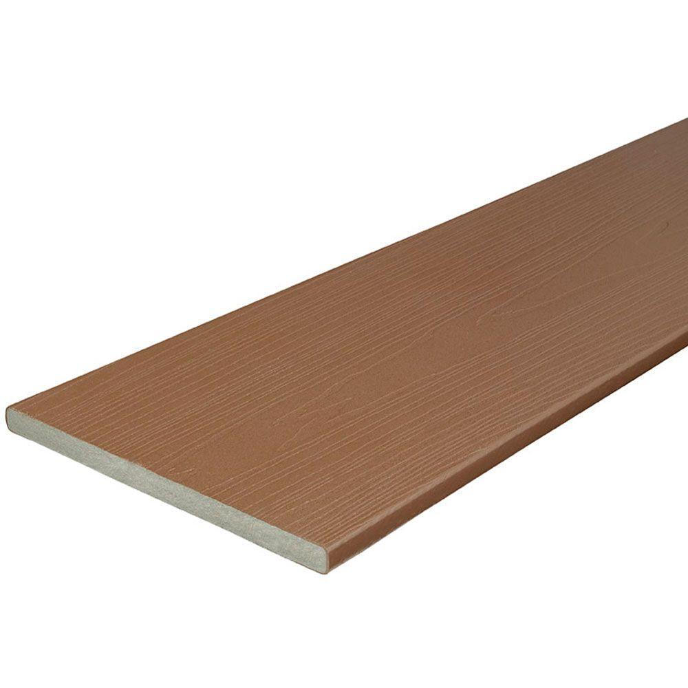 3/4 in. x 11-1/4 in. x 12 ft. Cabin Capped Fascia Composite Decking Board (24-Pack)