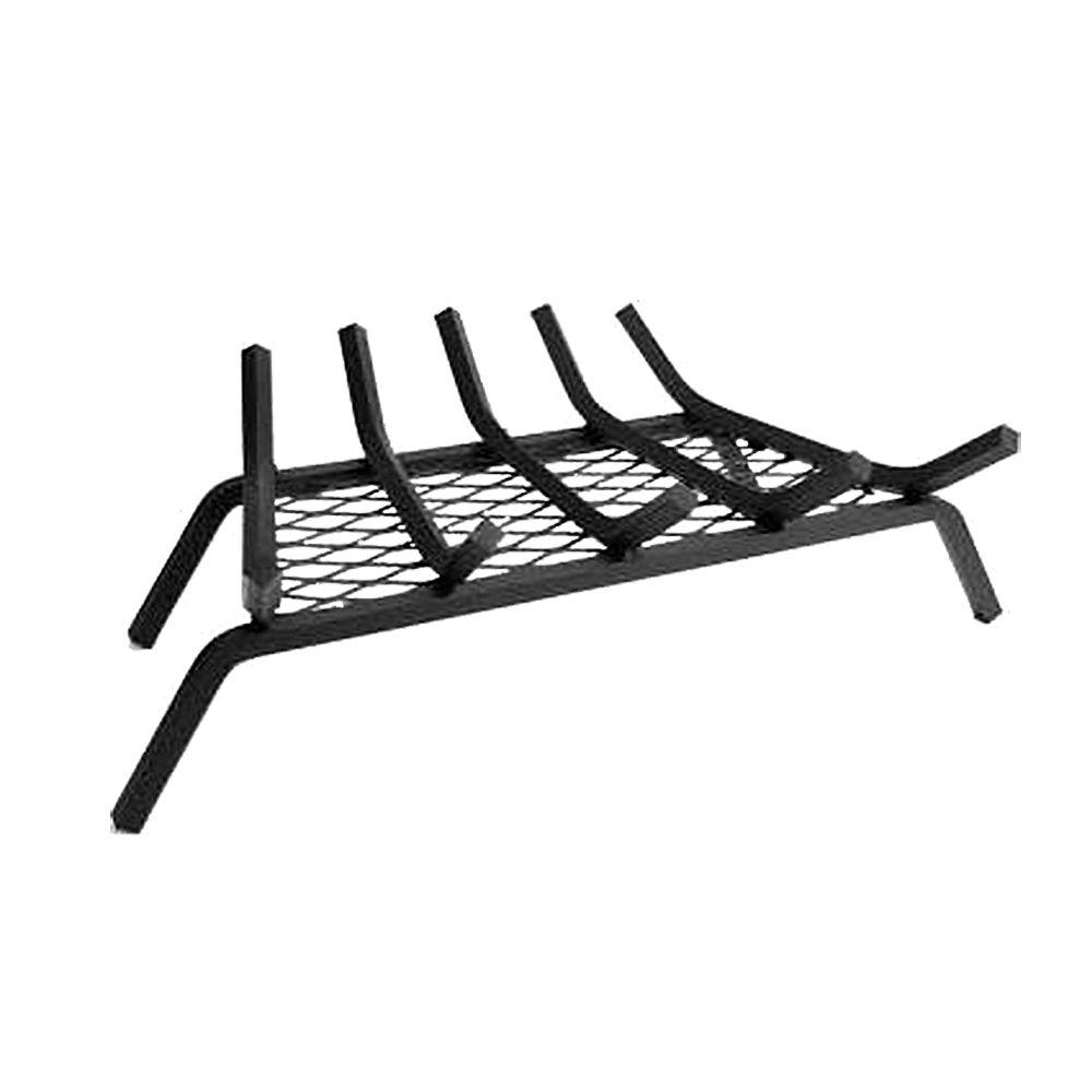 24 in. Steel Bar Fireplace Grate with 5 in. Legs