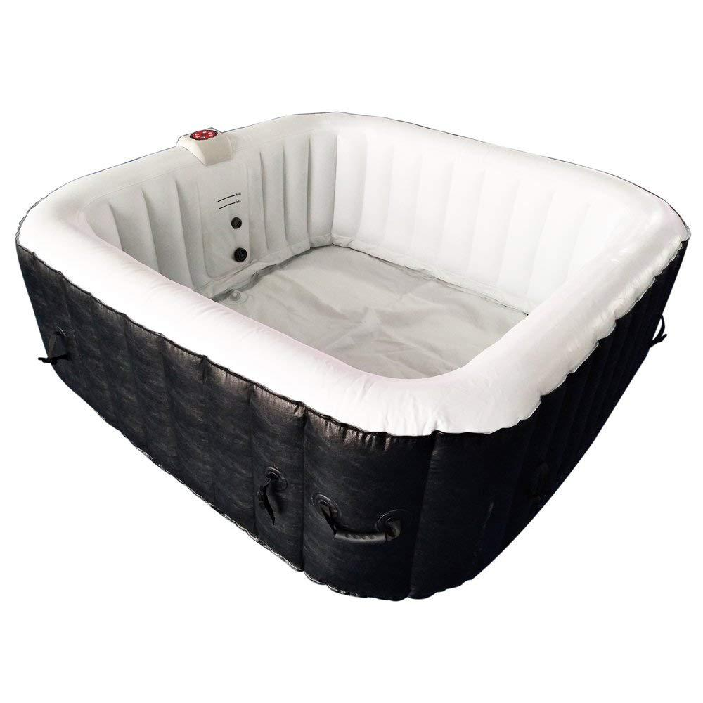 Aleko 4 Person Inflatable Hot Tub With Cover Htisq4bkwh Hd