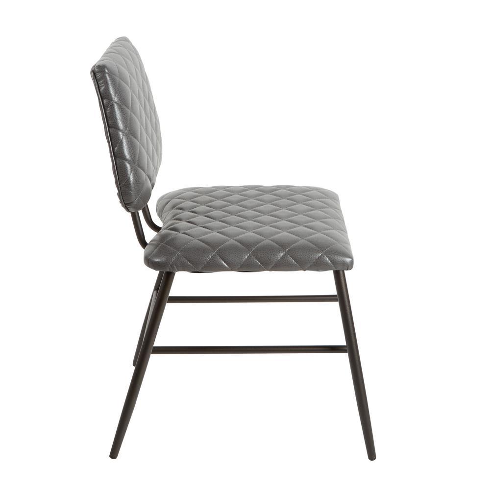 Pleasant Silverwood Deandra Gray Diamond Stitching Dining Chair Machost Co Dining Chair Design Ideas Machostcouk