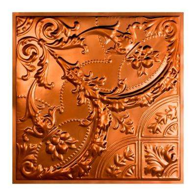 Saginaw 2 ft. x 2 ft. Lay-in Tin Ceiling Tile in Copper