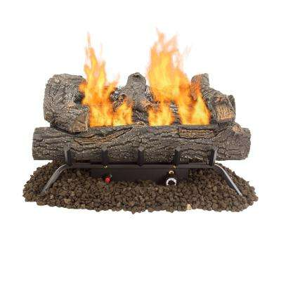 24 in. Southern Oak 30,000 BTU Vent Free Gas Log Set