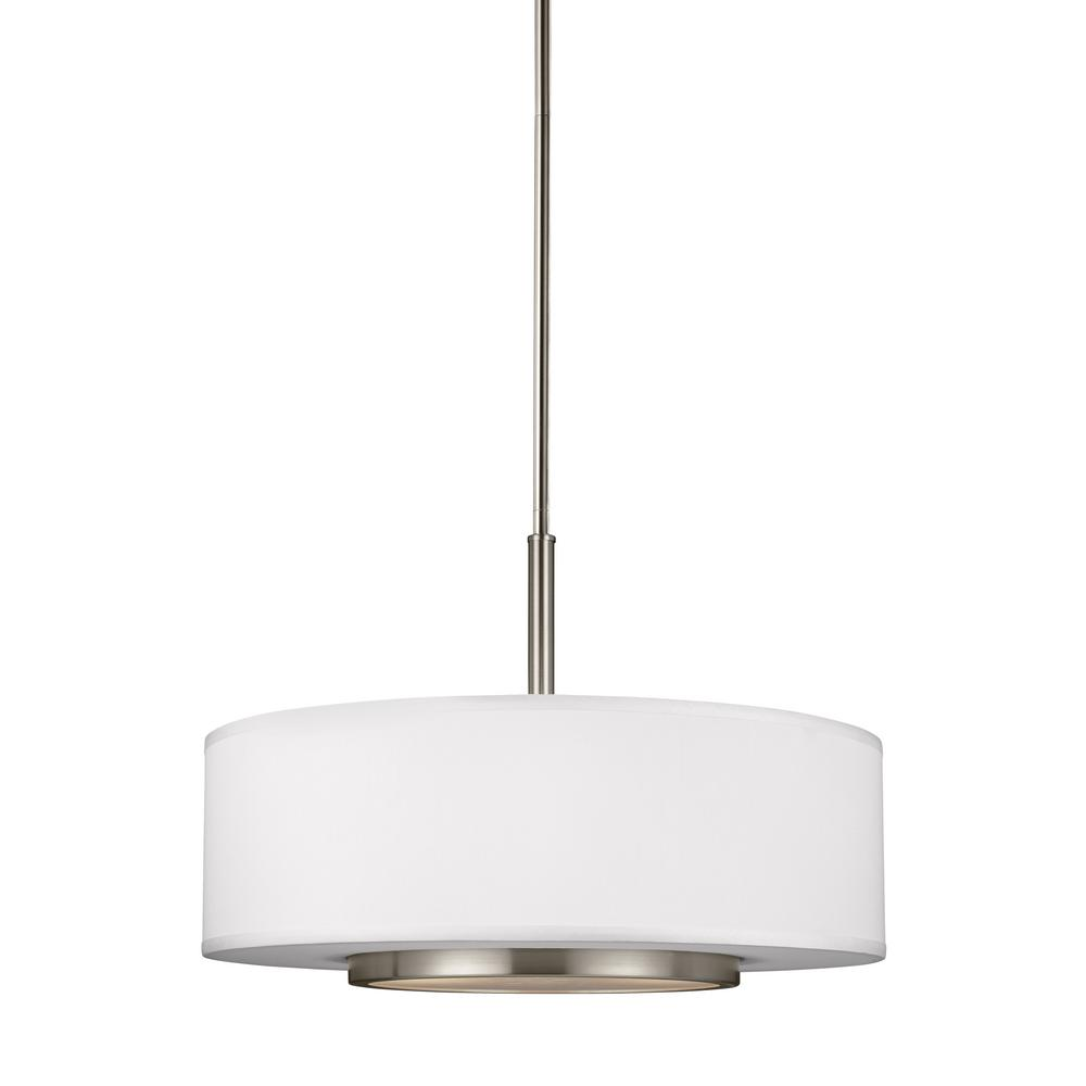 Nance 3-Light Brushed Nickel Pendant