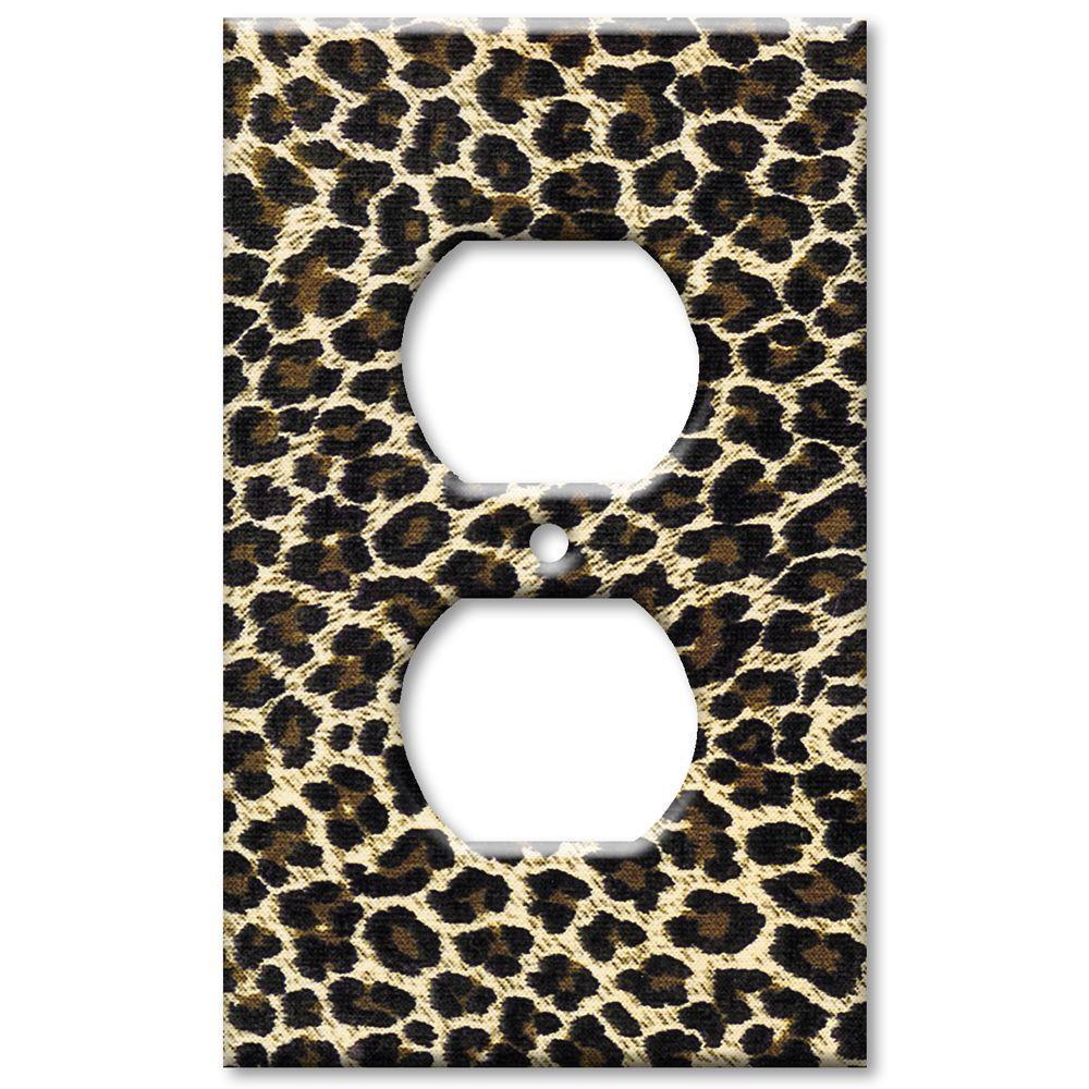 Art Plates Leopard Print - Oversize Outlet Cover