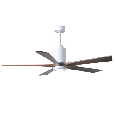 Patricia 60 in. LED Indoor/Outdoor Damp Gloss White Ceiling Fan with Light