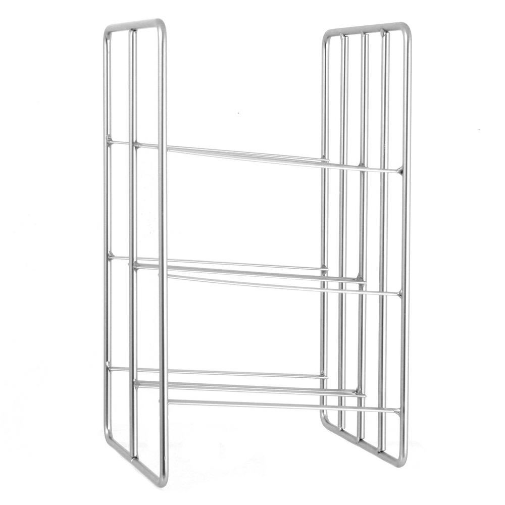 Oenophilia Milano 6 Bottle Silver Wine Rack 010098 The Home Depot