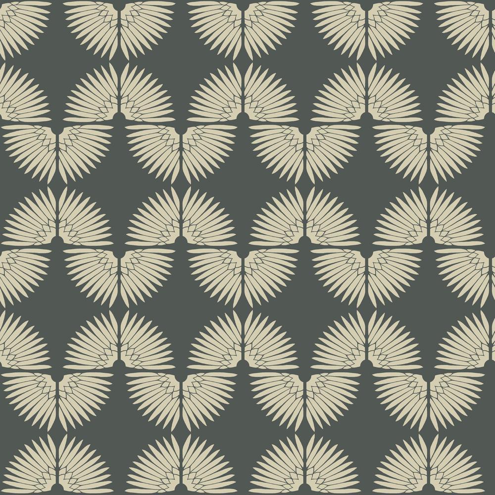 Tempaper Genevieve Gorder Urban Caterpillar Angel White Self Adhesive Removable Wallpaper UR414
