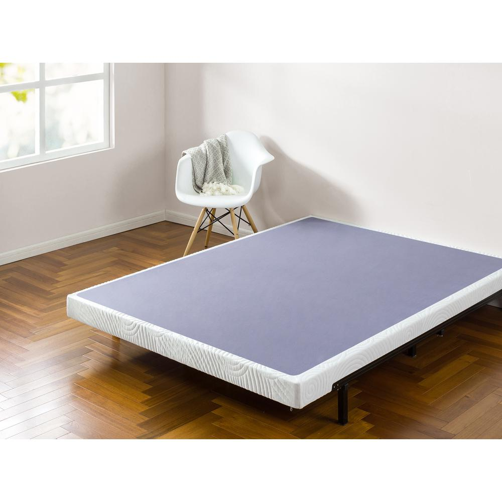 Zinus Edgar 4 Inch Low Profile Wood Box Spring Mattress