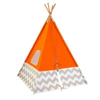 Deluxe Play Teepee in Orange