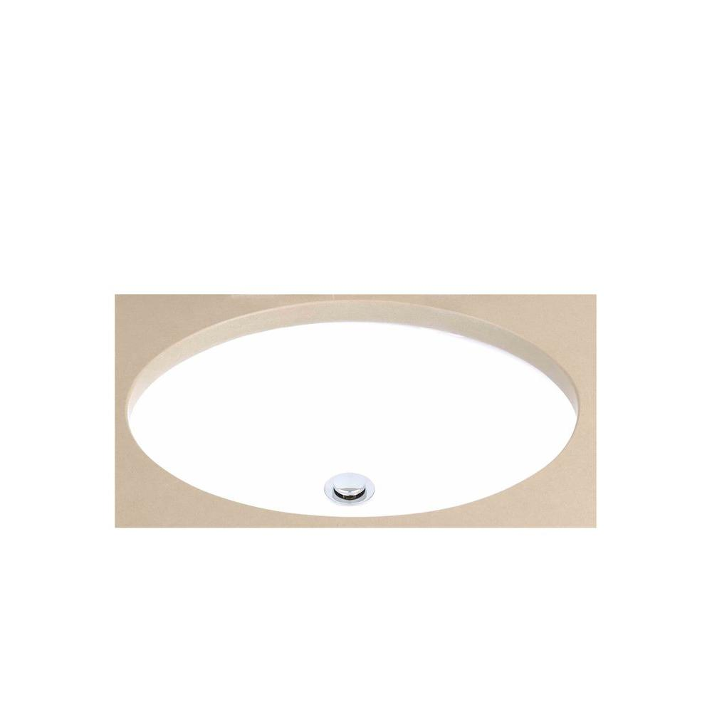 Filament Design Cantrio Undermount Bathroom Sink in Marble White-PS ...