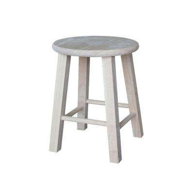 18 in. Unfinished Wood Bar Stool