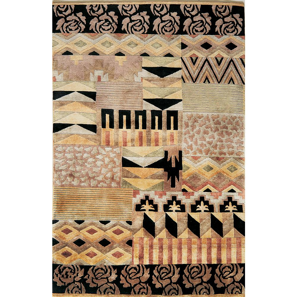 Kas Rugs Valencia Multi-Color Tribal 5 ft. x 8 ft. Area Rug, Multi-Colored was $175.0 now $96.25 (45.0% off)