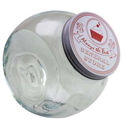 Cottage Chic 4.25 Qt. Glass Canister with Steel Lid
