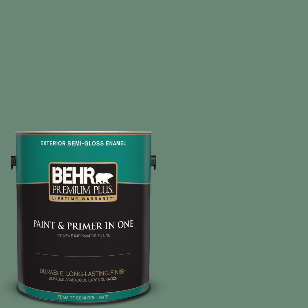 1-gal. #PPF-35 Green Adirondack Semi-Gloss Enamel Exterior Paint