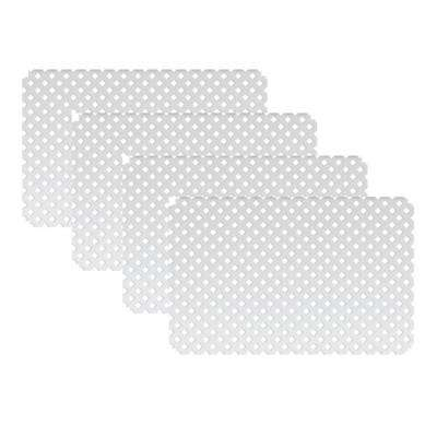 2 ft. 8 in. x 4 ft. W White Modular Vinyl Lattice Fence Panel (4-Pack)