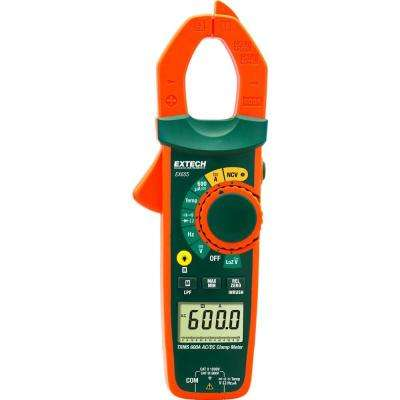 True RMS 600 Amp Clamp Meter with NCV, Temperature Measurements and NIST
