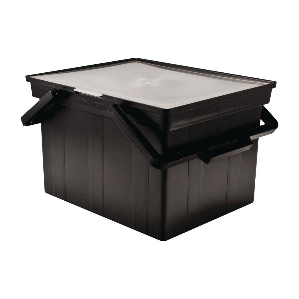 30 Qt. Letter/Legal Storage Tote in Black