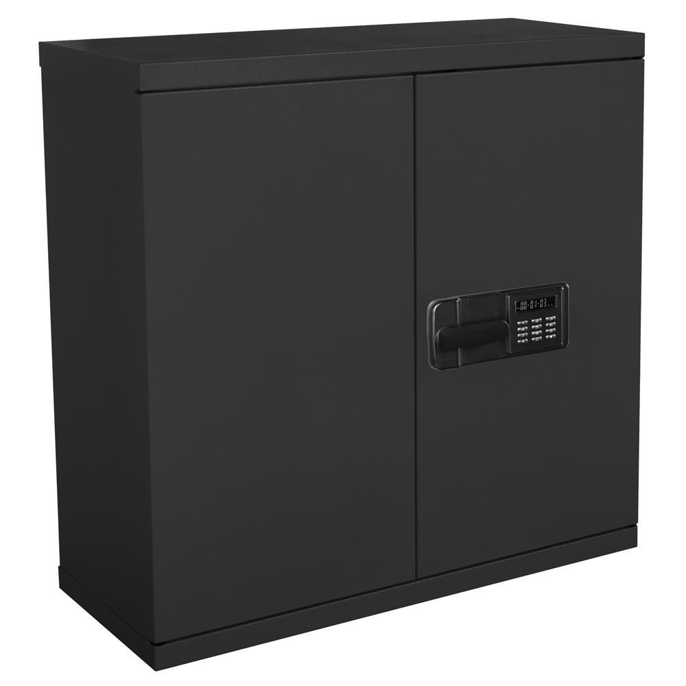 Sandusky 30 In H X 30 In W X 12 In D Steel Wall Mounted Cabinet Storage In Black Kdew3012 09 The Home Depot