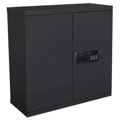 30 in. H x 30 in. W x 12 in. D Steel Wall Storage Cabinet in Black