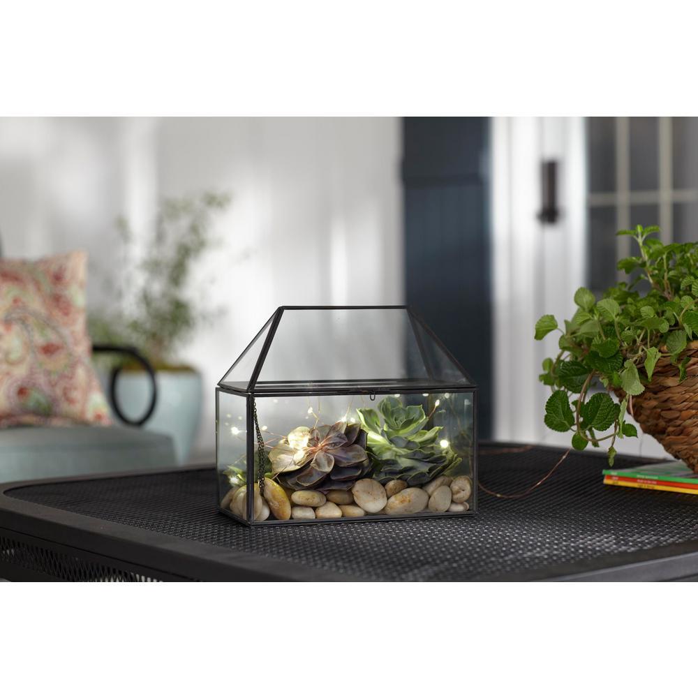 8.5 in. Metal and Glass Outdoor Patio Terrarium