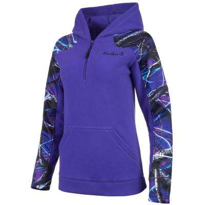 HUNTWORTH Women's Large Violet / Ultraviolet Hooded Pullover