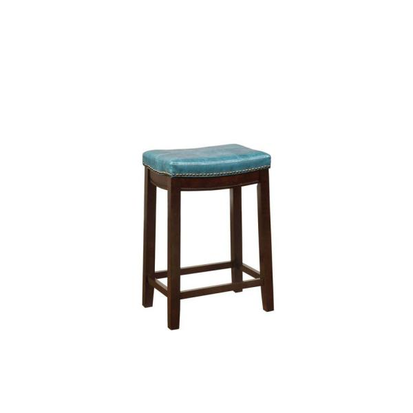 Fantastic Claridge 26 In Blue Cushioned Counter Stool Unemploymentrelief Wooden Chair Designs For Living Room Unemploymentrelieforg