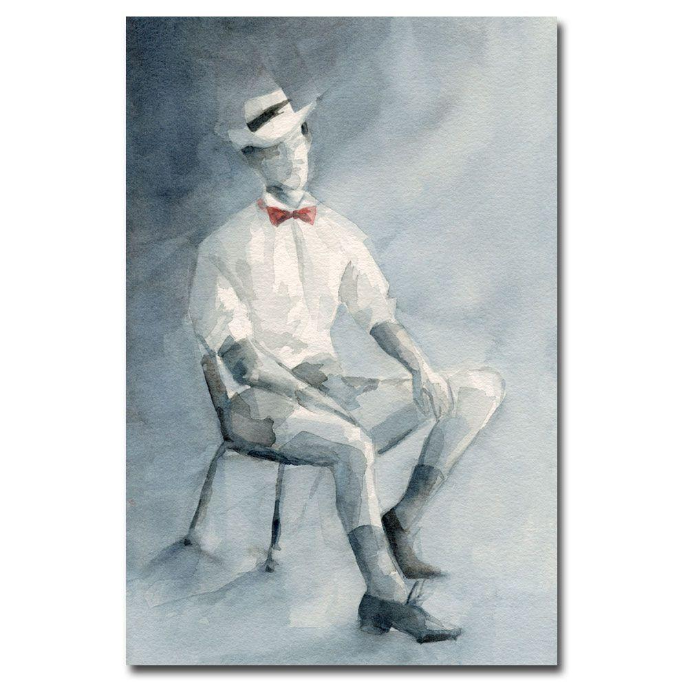 null 30 in. x 47 in. Man in White Shirt and Bowtie Canvas Art-DISCONTINUED