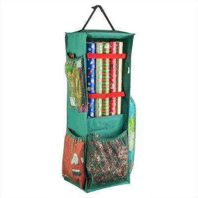 Four Sided Hanging Gift Wrap and Bag Organizer