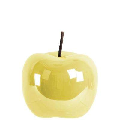 6.25 in. H Applepear Decorative Figurine in Yellow Finish