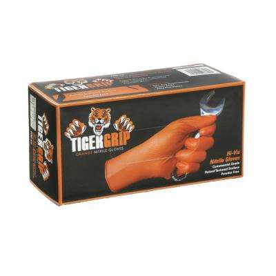 Orange Nitrile Raised Texture Gloves (100-Pack)
