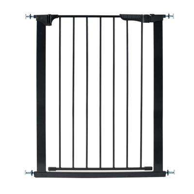 36 in. H Pressure Mount Gate Tall and Wide Auto Close Gateway in Black