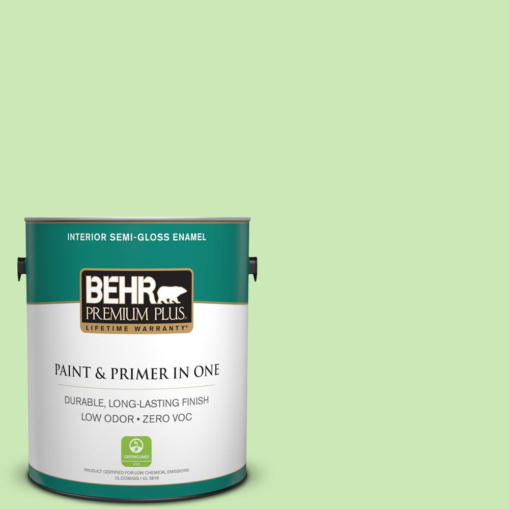 1 gal. #430A-3 Fairway Mist Semi-Gloss Enamel Zero VOC Interior Paint